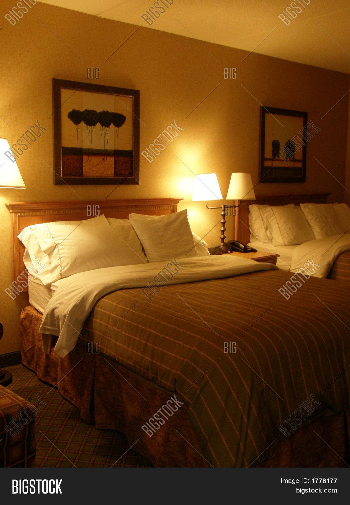 Hotel Room Photography: Dim-Lit Hotel Room Image & Photo (Free Trial)