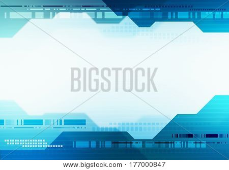 Abstract digital image technology interface banner concept witn place for text