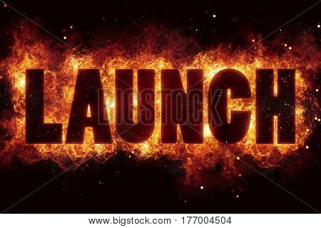 Rocket launch fire flame flames burn explode text explosion