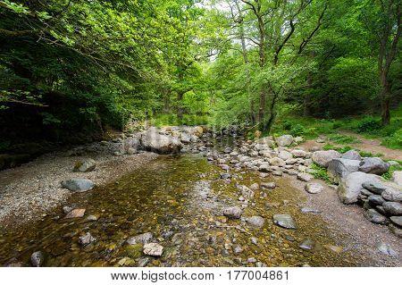 beautiful water fall in lake disctrict in UK