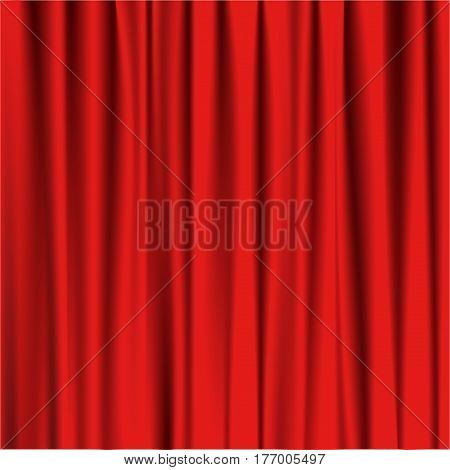 red curtain theatre Vector illustration eps 10