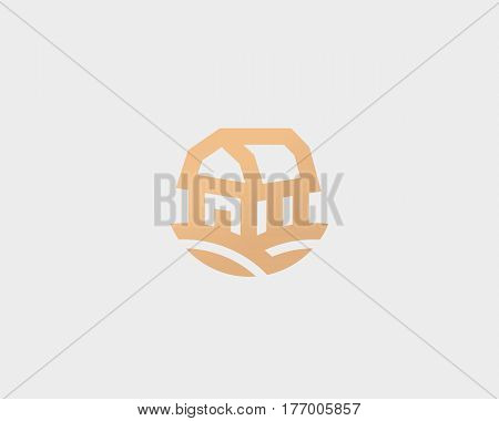 Farm house vector logotype. Natural farm organic products logo symbol