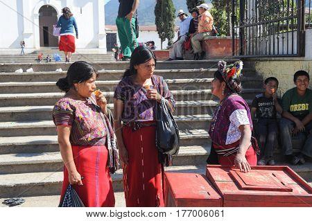 Nebaj, Guatemala - 4 February 2014: Maya woman at Nebaj on Guatemala