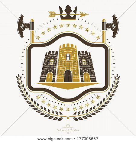 Luxury heraldic vector emblem template. Vector blazon.