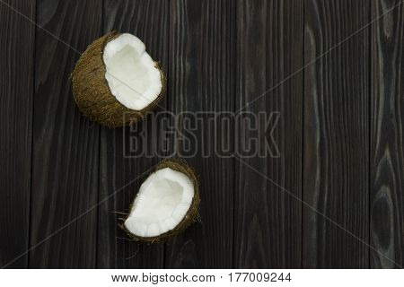coconut pulp fresh tropical brown black organic coconut milk