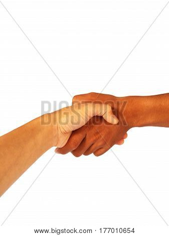 asian men show hand gesture is shake hand
