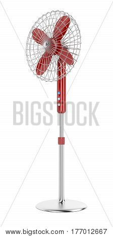 Electric fan on white background, 3D illustration