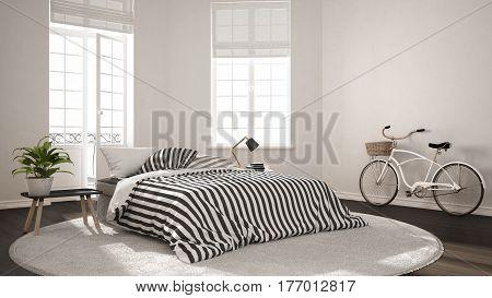 Minimalist Scandinavian Modern Bedroom, Classic Nordic Interior Design