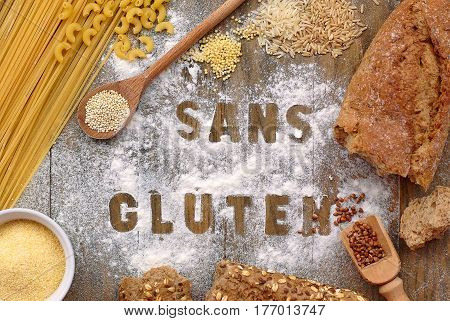 Gluten Free Flour And Cereals Millet, Quinoa, Corn Flour Polenta, Brown Buckwheat, Basmati Rice And