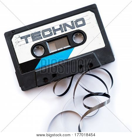 techno music dance musical genres audio tape label