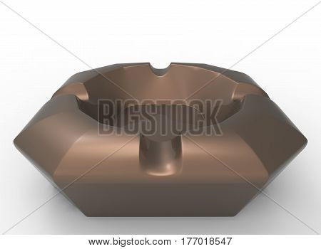 3d illustration of ashtray. white background isolated. icon for game web.