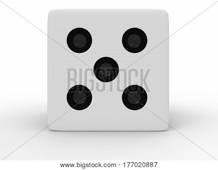 3d illustration of dice. white background isolated. icon for game web.