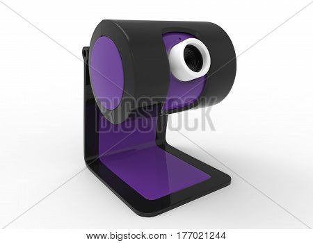 3d illustration of web camera. white background isolated. icon for game web.