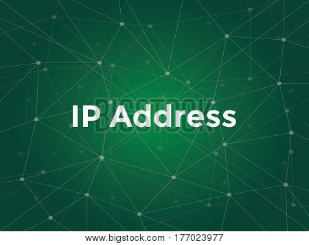 white text illustration for ip address concept - is a numerical label assigned to each device participating in a computer network that uses the Internet Protocol for communication vector.