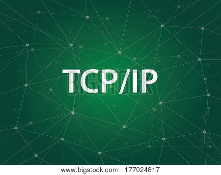 tcp ip networking - Transmission Control Protocol Internet Protocol is a set of rules protocols governing communications among all computers on the Internet vector