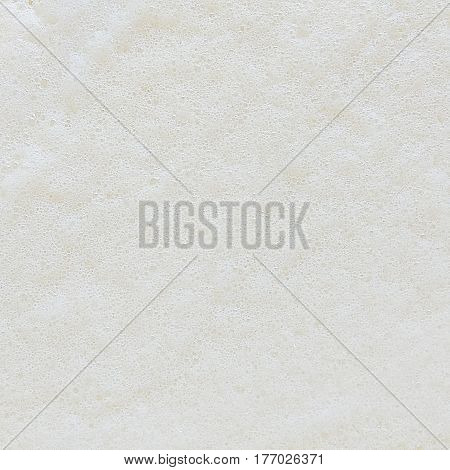 Close up top view of small bubble and soap foam texture background
