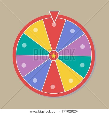 Wheel of fortune illustration in flat style