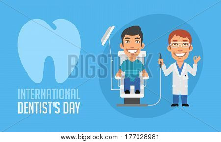 International Dentists Day Dentist And Patient In Armchair