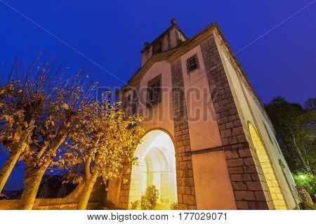 Church in Sintra at evening. Sintra Lisbon Portugal