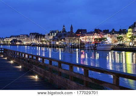 Panorama of Trouville-sur-Mer. Trouville sur-Mer Normandy France.