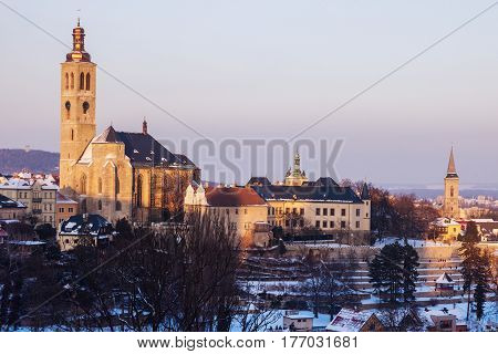 St. Jacob Church in Kutna Hora. Kutna Hora Central Bohemian Region Czech Republic.
