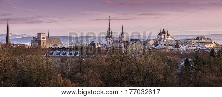 Panorama of Olomouc. Olomouc Olomouc Region Czech Republic.