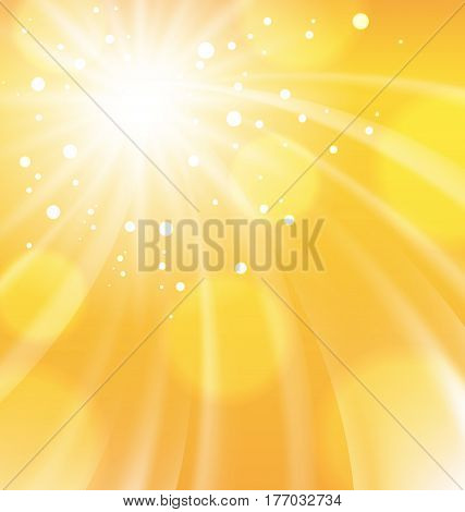 Illustration Abstract Orange Background, Motion, Whirpool Explosion - Vector