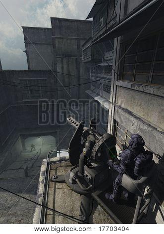 Urban Combat Space Marine - the Watcher