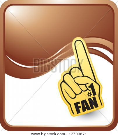 fan hand on bronze wave backdrop