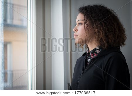 Alone And Lonely Young Girl Feeling Depressed