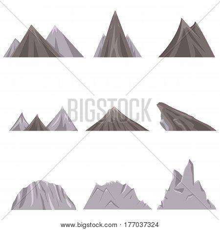 Vector Set Of Flat Landscape Illustrations.