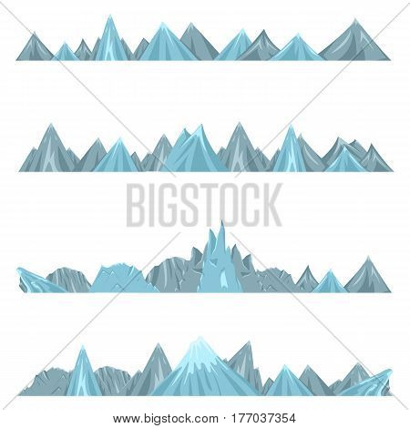 Vector Set Chains Of Mountains