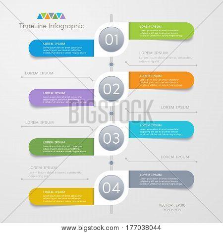 Timeline infographics design template process diagram vector eps10 illustration