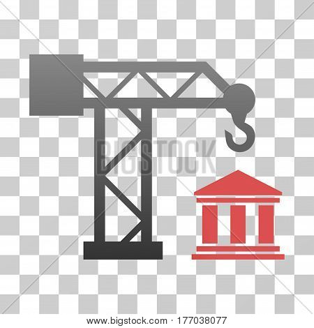 Build Bank icon. Vector illustration style is flat iconic symbol with gradients, transparent background. Designed for web and software interfaces.