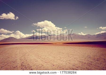 Siloli Desert In Sud Lipez Reserva, Bolivia