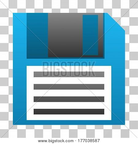 Floppy Disk icon. Vector illustration style is flat iconic symbol with gradients, transparent background. Designed for web and software interfaces.