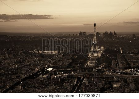 PARIS, FRANCE - MAY 13: Eiffel Tower and city at night on May 13, 2015 in Paris. It is the most-visited paid monument in the world with annual 250M visitors.