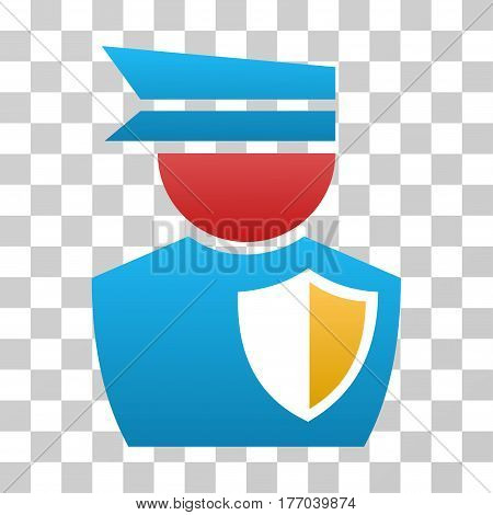 Police Officer icon. Vector illustration style is flat iconic symbol with gradients, transparent background. Designed for web and software interfaces.
