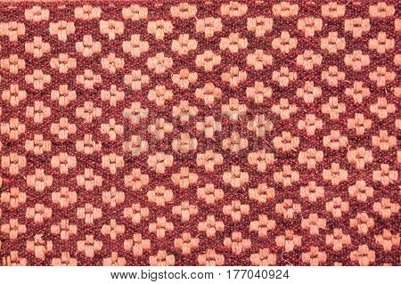 Abstract pink textile pattern with geometric background
