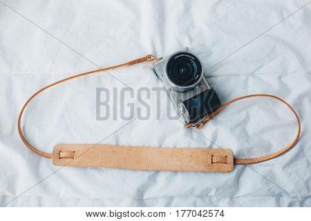 Genuine Leather Camera Strap Handmade