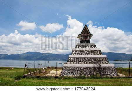 LAKE TOBA NORTH SUMATRA INDONESIA 13 MARCH 2012: Traditional batak grave