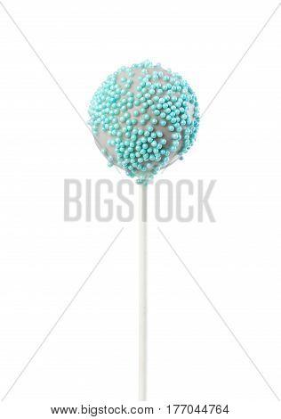 Cake Pop With Decorative Blue Sprinkles