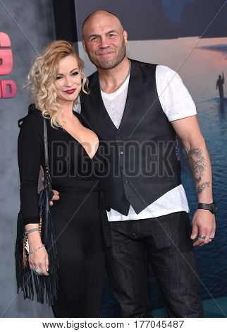 LOS ANGELES - MAR 08:  Randy Couture and Tricia Couture arrives for the