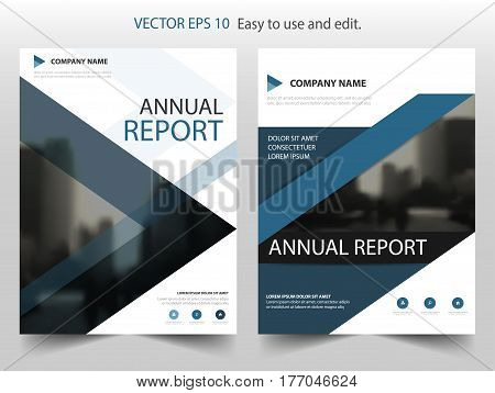 Blue triangle Vector Brochure annual report Leaflet Flyer template design book cover layout design abstract business presentation template a4 size design