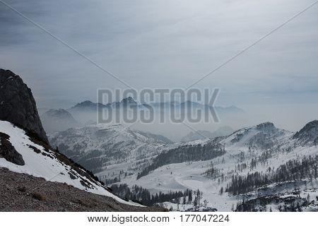 Dramatic landscape photo of Alps in Austria