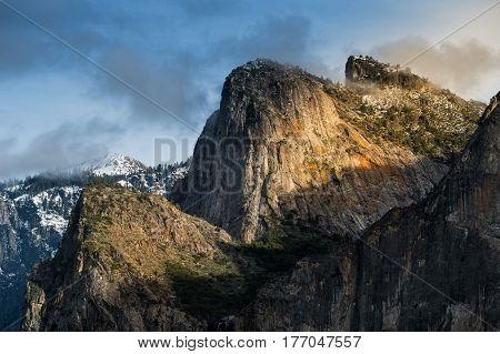 El Capitan a vertical rock formation in Yosemite National Park
