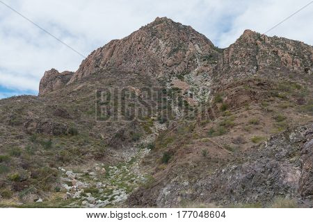 Mountain With Rock Slide