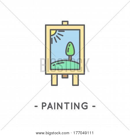 Line Black Painting Icon