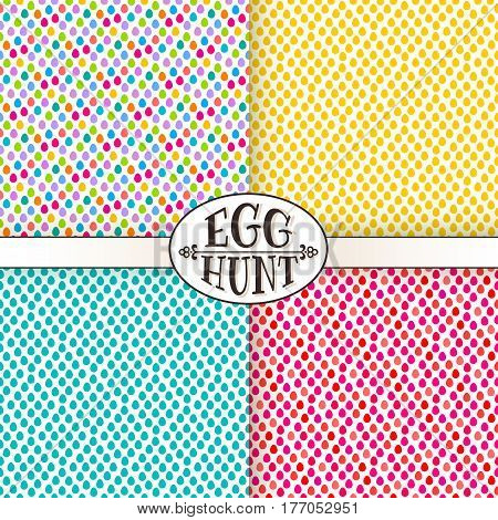 Easter Egg Hunt Seamless Pattern