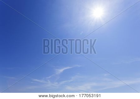 blue sky and cloud for nature background